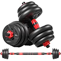 cikeRED Weights Dumbbell Barbell Set 3 in 1 Adjustable Weights Dumbbells Set Home Fitness Weight Set Gym Workout…