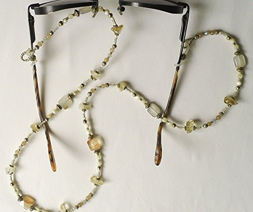 - Crystal and Citrine Gemstone Eyeglass Chain #EY125