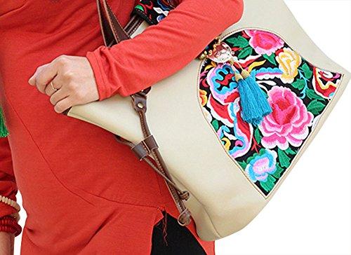 100% main sac à main sac à main sac à main - Belle broderie orientale Art # 127