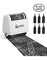 Identity Theft Protection Roller Stamp 6 Pack Refills - Confidential Address Blocker Anti Theft Prevention Stamps - by Azumic