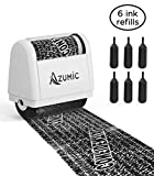 Azumic Identity Theft Protection Roller Stamp 6 Pack Refills - Confidential Anti Theft Prevention Stamps - Uses for Address Blocker, Junk Mail, Bank Statement