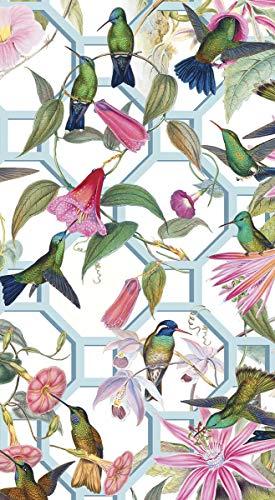 - Caspari Disposable Hand Towels, Decorative Paper Guest Towels for Bathroom or Paper Napkins Dinner Napkins Size Hummingbird Trellis Pak 30