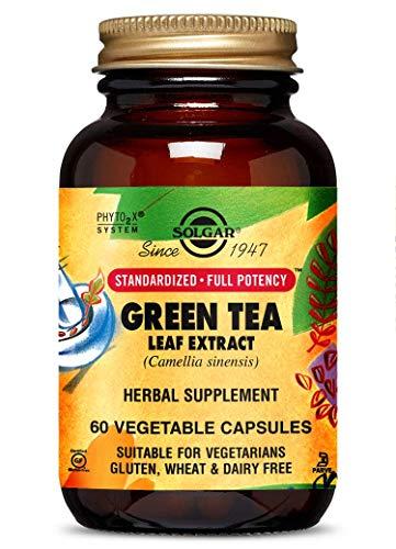 Solgar Standardized Full Potency Green Tea Leaf Extract Vegetable Capsules, 60 Count