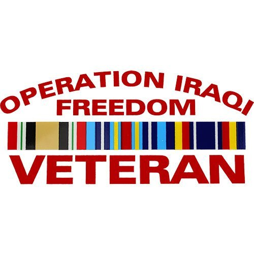 Freedom Ribbon - Operation Iraqi Freedom Veteran With Ribbon Clear Decal