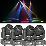 4PCS DMX-512 Mini Moving Head Light RGBW LED Stage PAR Light with Shapes Automatic Professional 9/11 Channel Party Disco Show AC 100-240V Sound Active