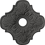 Ekena Millwork CM17PESGS Peralta Ceiling Medallion, Steel Gray