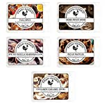 Fall Spice Variety Assorted Mix 5 Pack. 15 ounces 100% All Natural American Farm Raised Made Paraffin-Free Scented Wax Melts Warmer Cubes. Scented Tarts Vegan Wax Melts. Like Candle Tarts Or Bars