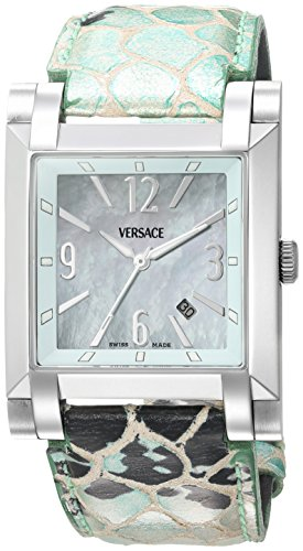 Versace Men's FLQ99D220 S220 Character Analog Display Quartz Green Watch