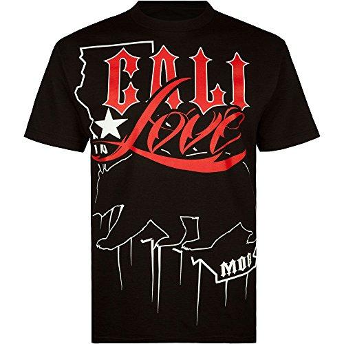 MOB Inc CA Lover Mens T-Shirt, Black, X-Large