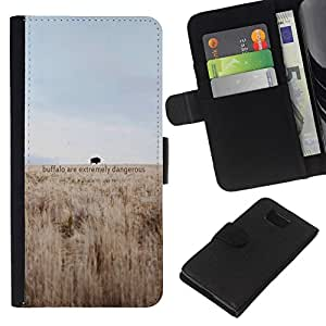 All Phone Most Case / Oferta Especial Cáscara Funda de cuero Monedero Cubierta de proteccion Caso / Wallet Case for Samsung ALPHA G850 // Dangerous Buffalo