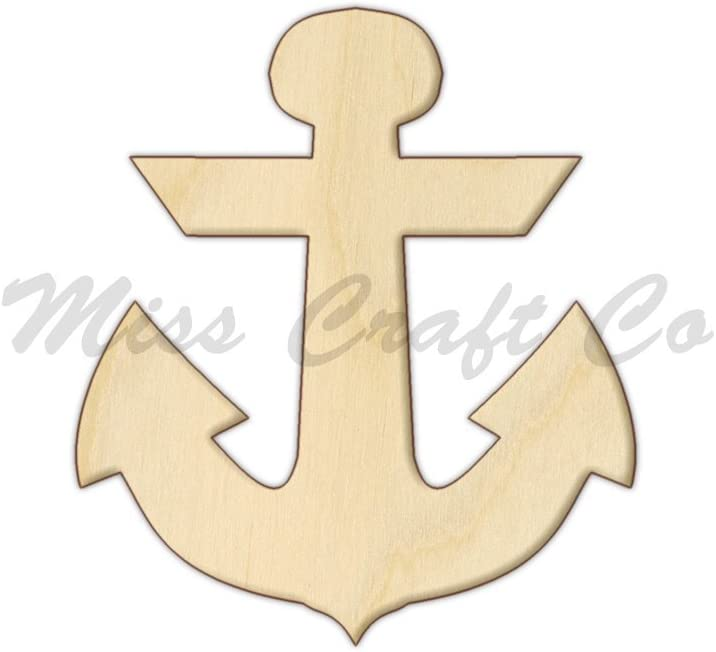 Plaid Craft Surfaces Unpainted Wood Shape Anchor 40668