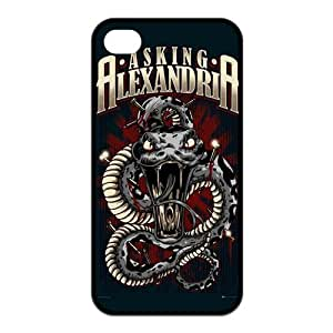 iStyle Zone Snap-on TPU Rubber Coated Case Compatible with iPhone 4 / 4S Cover [Asking Alexandria]