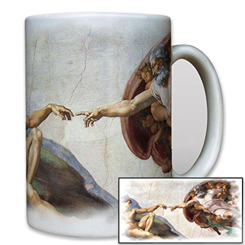 - Creation of Adam Sistine Chapel Michelangelo God Adam Painting - Coffee Cup Mug