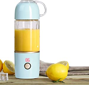 MCHATTE Portable Blender, Electric Personal Fruit Mixing Machine, USB Rechargeable for Juice shakes and Smoothies, Six Blades in 3D, Detachable Cup, FDA, BPA Free, Blue
