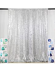 ShiDianYi 8 X 8, Ready to Dispatch,Silver Sequin Backdrops, Silver Sequin Photo Booth Backdrop, Party Backdrops,Wedding Backdrops, Sparkling Photography Prop