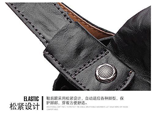 Zu Sandalen 41 1 5 Umweltschutz Dualer 7 8 us Gebrauch schwarz Echtleder Bauen 42 eu uk cn 3 Schuh Hand Männer Strand UIxdIT