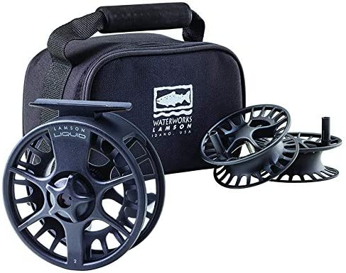 LIQUID 3.5 3-PACK ONE 7 8WT REEL AND TWO EXTRA SPOOLS WITH CARRYING CASE