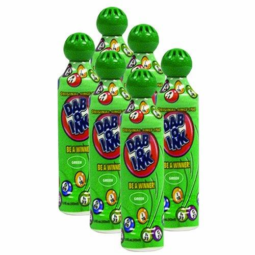 Six Pack 1.5Oz Mini Tip dab-o-inkグリーンBingo Dauber