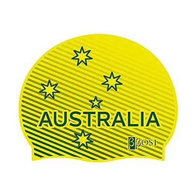 Bonnet de Natation Australia Bonnet de Bain en Silicone Bonnet Piscine pour Adulte Homme et Femme Bbosi