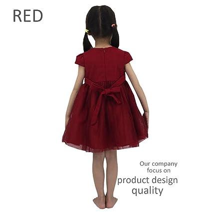 a8254ad66c7cef Azoramika kleider mädchen Kinderkleidung Rotes Kleid Gute Qualität Kinder  Party Kleider für mädchen 3-11 Jahre frühlingskleid mädchen (10-11 Jahre,  ...