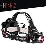 Ledlenser H14R.2 Rechargeable Headlamp, Black