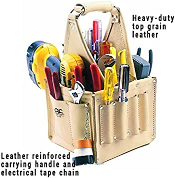 CLC Custom Leathercraft 526 Electrician's and Maintenance Tool Pouch, Heavy Duty, 17 Pocket