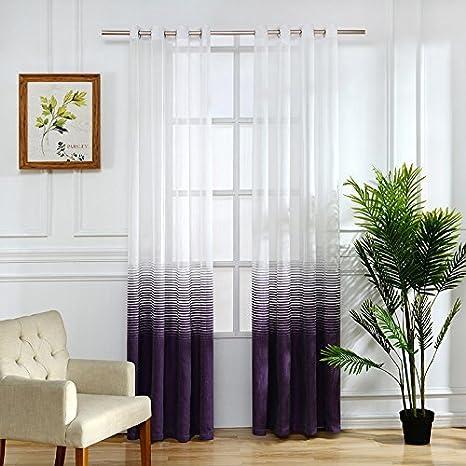 LUXCHIC tul para ventana sala de estar cortinas para ...