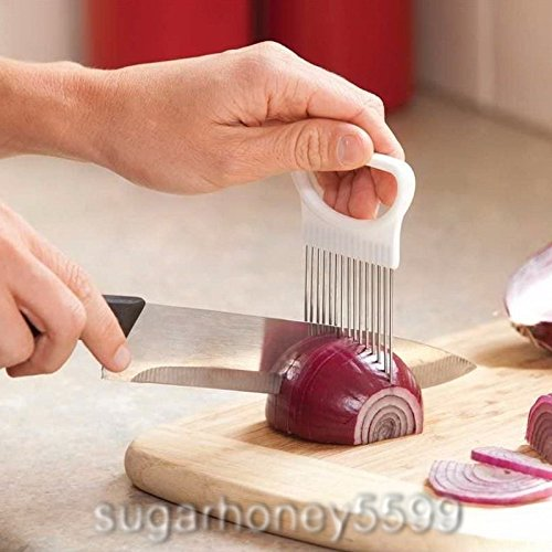 Multi-purposes Stainless Steel Onion Holder Slicer Chopper Gadget Vegetable Potato Cutter Holder for Cooking (Healthy Meat Loaf Set)