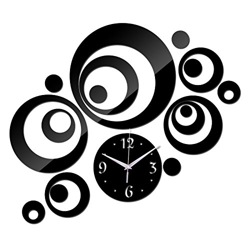 Amazon.com: Treading - New Wall Clock Horloge Modern Design Reloj De Pared Large Decorative Digital Watch Living Room 3d Diy Acrylic Mirror [ Silver ]: Home ...