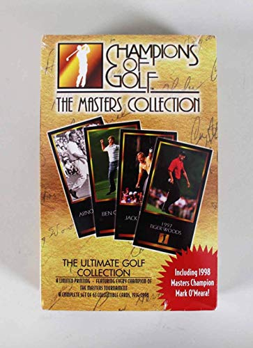 Tiger Woods Rookie 1997-98 Champions of Golf The Masters Collection Sealed Box Set - Unsigned Golf Trading Cards