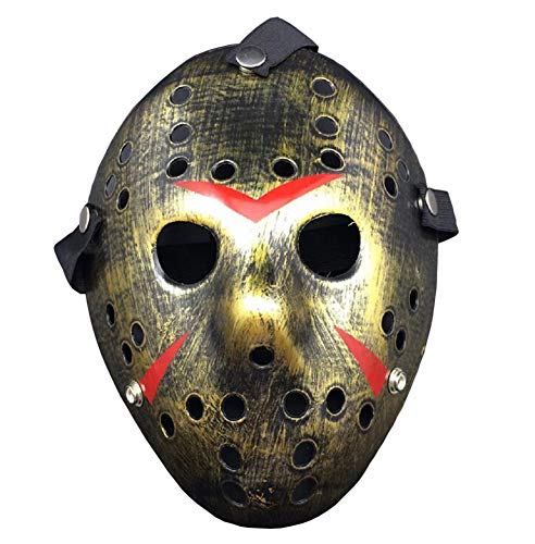 Porous Jason Voorhees Mask, Cosplay Hockey Scary Costume Masks Props for Halloween Masquerade Party ()