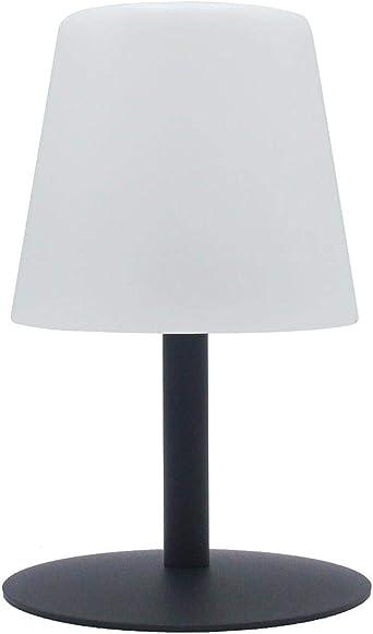Lampe De Table Sans Fil Pied En Acier Gris Led Blanc Chaud Blanc Dimmable Standy Mini Rock H25cm Amazon Fr Luminaires Et Eclairage