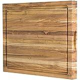 大型双面柚木切割板:18x14x1.25,带果汁槽(包括礼品盒),由Sonder Los Angeles提供
