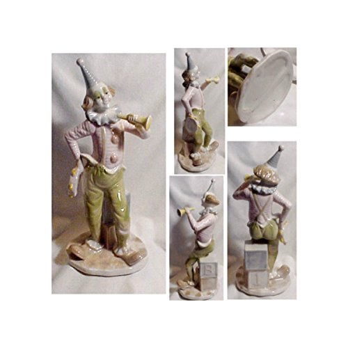 Sebastian Paul Design Porcelain Circus Clown Statue Figurine with Rabbit 10