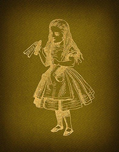 Amazon.com: Vintage Alice in Wonderland Drink Me Print for Wall Art ...