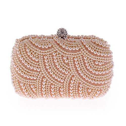 bag Delicate evening Pearl Wallets party Clutch cool Champagne handbags bag 4qZnwp0E