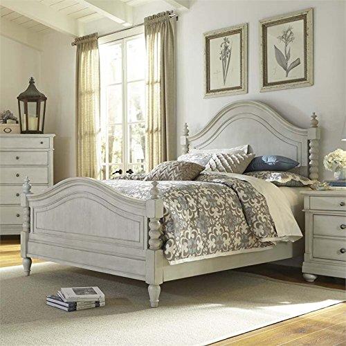 Liberty Furniture Harbor View III Bedroom Queen Poster Bed, Dove Gray Finish