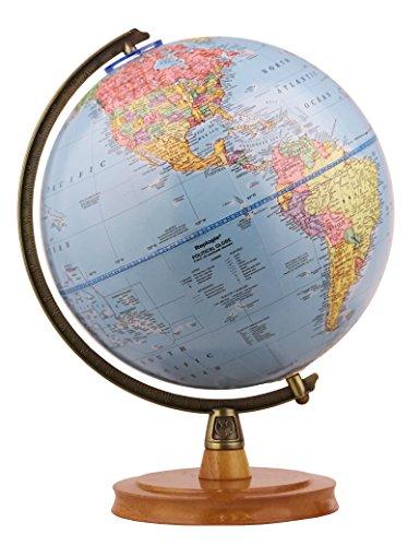 Replogle Desktop World Globe - Replogle Surveyor- World Blue Ocean Political Globe, Desktop Model (9