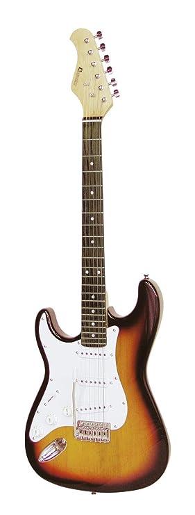 Guitarra eléctrica PATRON para zurdos con accesorios, sunburst - Guitarra para principiantes / Instrumento de cuerda - klangbeisser: Amazon.es: Instrumentos ...