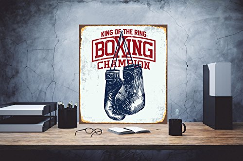 Boxing Sign Champion Sign King of The Ring
