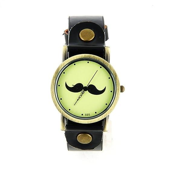 Agujas Antiguas My Reloj Vintage Negra Bigote Montre Bronce lucTFKJ531