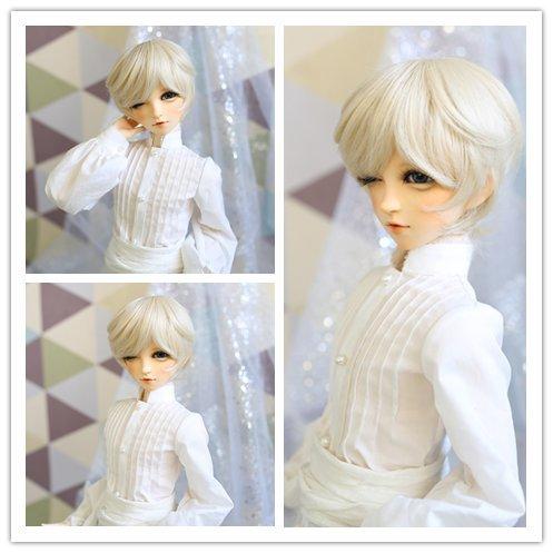 9-10 Inch 1/3 High-Temperature Wig Boy Man Short Blonde BJD Doll Hair Wigs with Bangs Fashion Stylish Hair