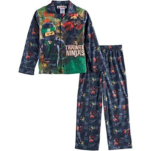 LEGO Boy's Ninjago Ninjas Pajamas 2-Piece Sleepwear Set Size 4 (Lego Train Set 10233)
