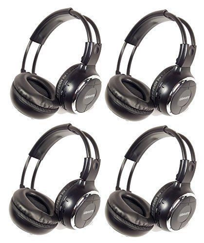 Gravity GR50WH4-Pack Single Channel Universal IR Infrared Wireless Foldable In-Car Headphone for TV Video Audio (Single Source Wireless Headphones)