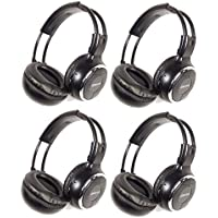 Gravity GR50WH4-Pack Single Channel Universal IR Infrared Wireless Foldable In-Car Headphone for TV Video Audio Listening