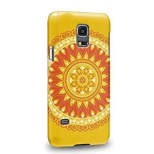 Case88 Premium Designs MANDALA Sunshine Festival 0788 Protective Snap-on Hard Back Case Cover for Samsung Galaxy S5 mini