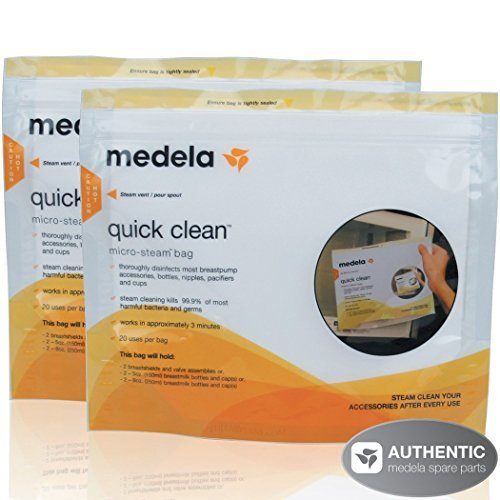 Medela 10 Count Quick Clean Micro-Steam Bags and 6 Count Breast Milk Bottle Set (Medela Bags For Microwave compare prices)