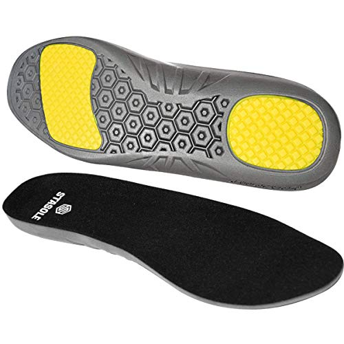 STASOLE Anti-Fatigue Insoles for Man and Woman Cushioning Gel Shoe Inserts with Arch Support and Shock Absorption Ideal for Hiking Work Boots and Athletic Shoes (M)
