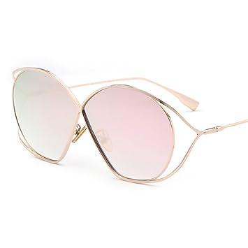 LIZHIQIANG Gafas De Sol Huecas Gafas De Mujer Color Retro ...