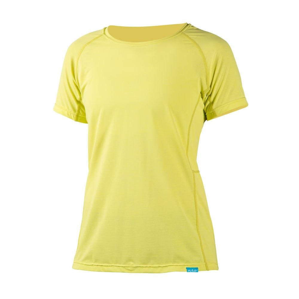 NRS H2Core Silkweight SS Shirt - Women's Limeade Heather Small by NRS